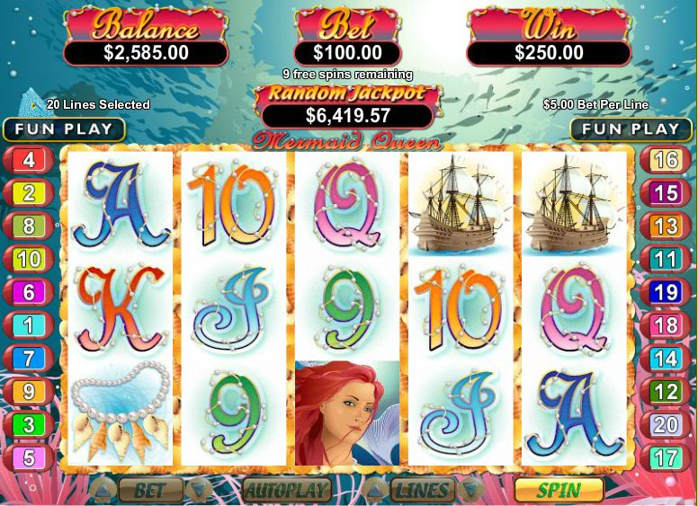 RealTime Gaming has released the Mermaid Queen mobile slot